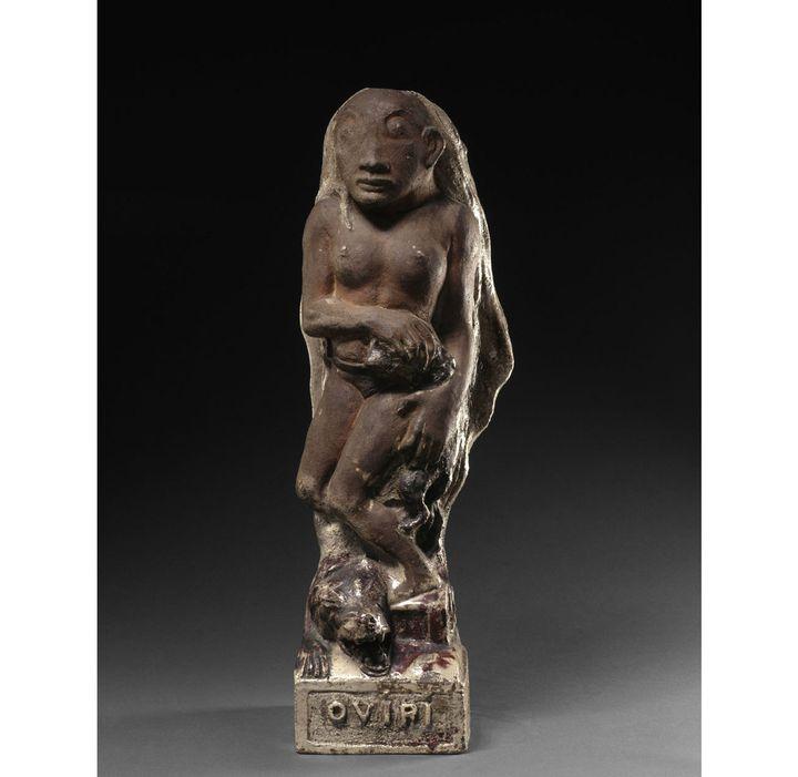 """Paul Gauguin, """"Oviri"""", 1894, grès partiellement glaçuré, Paris, musée d'Orsay  (Rmn-Grand Palais (musée d'Orsay) / Hervé Lewandowski)"""