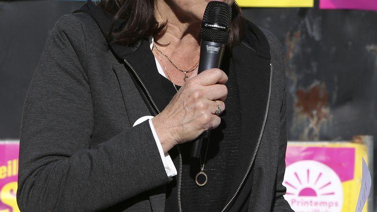 La candidate d'union de la gauche aux élections municipales, Michèle Rubirola, le 7 mars 2020 à Marseille. (PASCAL POCHARD-CASABIANCA / AFP)