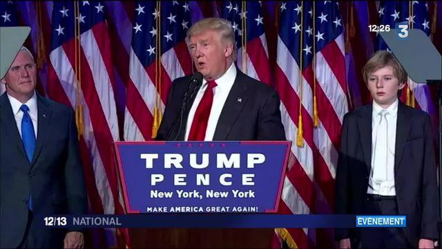 """Présidentielle : Donald Trump, """"président de tous les Américains"""""""