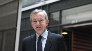 Bernard Arnault, patron du groupe de luxe LVMH, à Paris, le 4 février 2012. (ERIC PIERMONT / AFP)