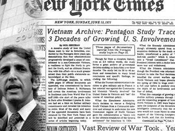 Une du «New York Times» de juin 1971, avec en photo Daniel Ellsberg. (DR)