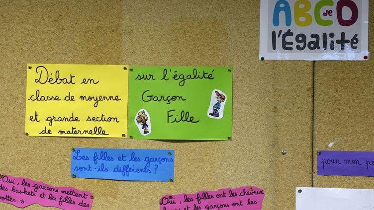 L'ABCD de l'égalité est expérimenté dans une école primaire à Villeurbane (Rhône), le 13 janvier 2014. (PHILIPPE DESMAZES / AFP)