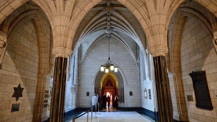 Entrée des archives du Parlement le 23 octobre 2014 à Ottawa (Canada) (SEAN KILPATRICK / AP / SIPA )