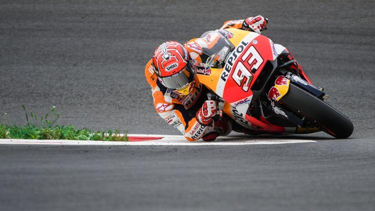 Le pilote espagnol Marc Marquez (Honda). (JURE MAKOVEC / AFP)