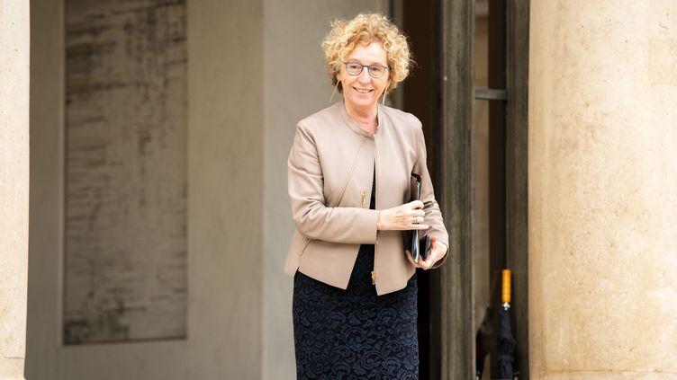 Muriel Penicaud à la sortie du conseil des Ministres à l'Elysée, le 21 octobre 2019. (XOSE BOUZAS / HANS LUCAS)