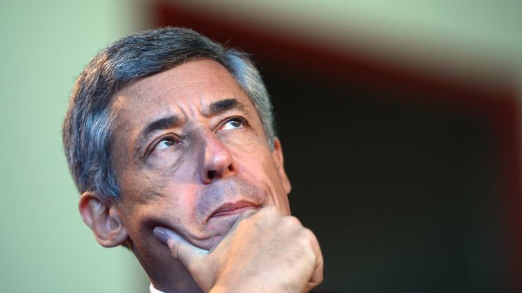 L'ancien conseiller spécial de Nicolas Sarkozy, Henri Guaino, lors d'un meeting de l'UMP le 15 septembre 2012, à Samoëns (Haute-Savoie). (PHILIPPE DESMAZES / AFP)