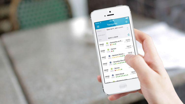 L'application Tranquilien, développée par Snips en partenariat avec la SNCF, prédit la fréquentation des trains en Ile-de-France en fonction des données récoltées sur plusieurs années. (SNIPS)
