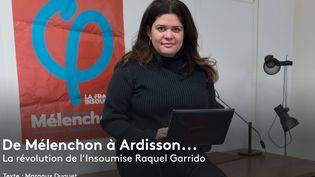 Raquel Garrido pose au QG de campagne de La France insoumise, à Paris, le 26 janvier 2017. (WITT / SIPA)