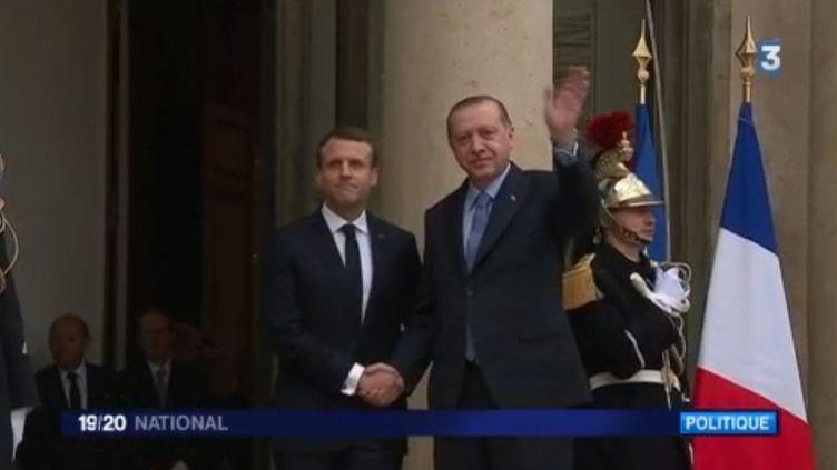 Macron Erdogan 5 janvier à Paris (FRANCE 3)