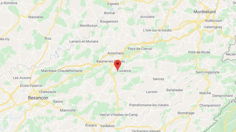 Les faits se sont produits à Guillon-les-Bains, dans le Doubs, entre Besançon et Montbéliard. (GOOGLE MAPS)