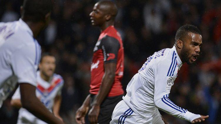 Lacazette vient de marquer pour Lyon (JEFF PACHOUD / AFP)