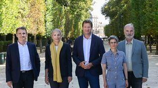 Les cinq candidats à la primaire écologiste, le 20 août 2021 à Poitiers (Vienne). (NOSSANT/HARSIN ISABELLE / SIPA)