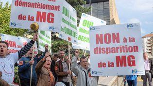 Manifestation de médecins à Lyon le 6 octobre 2015. (CITIZENSIDE/FRANCK CHAPOLARD / CITIZENSIDE.COM)