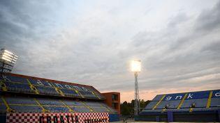 Le stade Maksimir de Zagreb en Croatie lors d'un entraînement de l'équipe de France à la veille du match contre la Croatie, le 13 octobre 2020. (FRANCK FIFE / AFP)