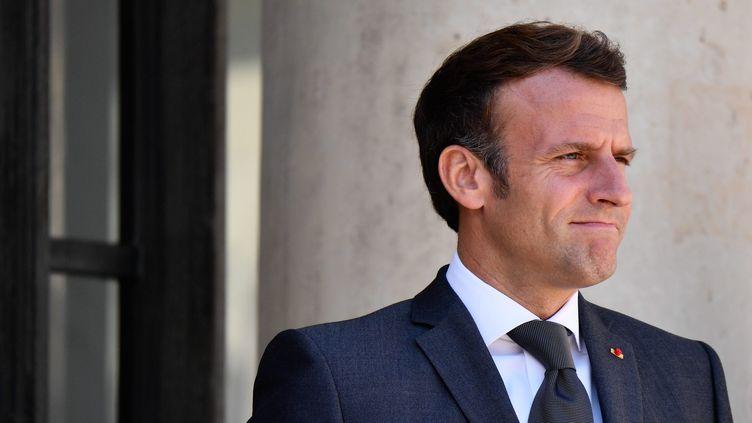 Emmanuel Macron le 23 juillet à l'Élysée. (JULIEN MATTIA / LE PICTORIUM / MAXPPP)