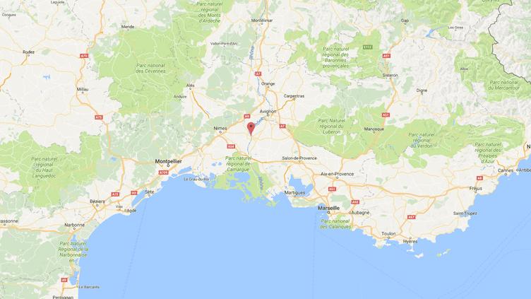 Carte de localisation deBeaucaire. (GOOGLEMAPS)