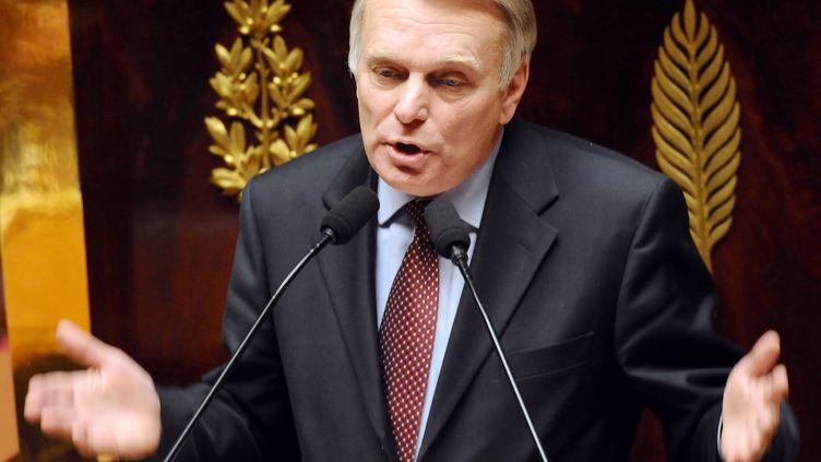 Jean-Marc Ayraultle 1er avril 2008 lors d'un débatà l'Assemblée nationale à Paris. (PATRICK HERTZOG / AFP)