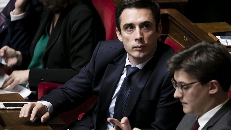 Le député LREM Jean-Baptiste Djebbari, lors d'une séance de questions d'actualité au gouvernement, à l'Assemblée nationale, le 31 octobre 2017. (VINCENT ISORE / MAXPPP)