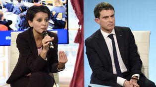 La ministre de l'Education nationale, Najat Vallaud-Belkacem, et le Premier ministre, Manuel Valls, à Paris, le 22 janvier 2015. (ERIC FEFERBERG / AFP)