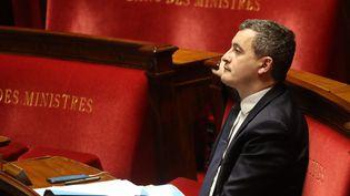 Gérald Darmanin, ministre des Comptes et de l'Action publique, à l'Assemblée nationale le 19 mars 2020. (LUDOVIC MARIN / POOL)