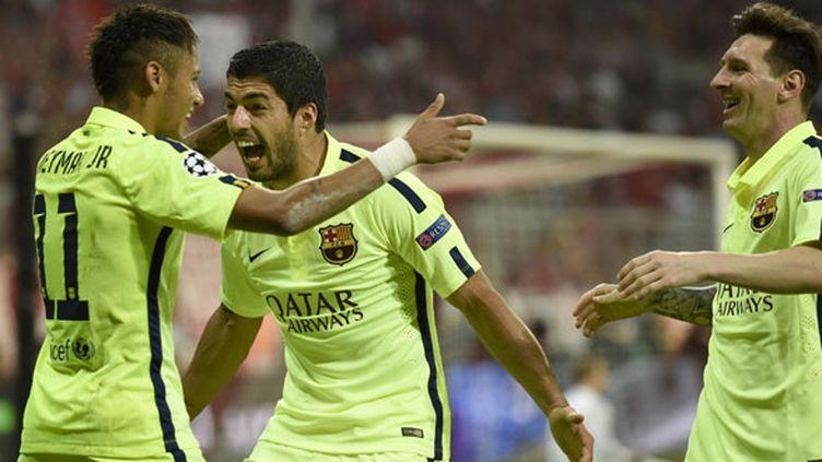 Le trio offensif du FC Barcelone, Neymar, Suarez et Messi