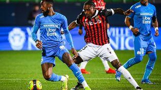 Nice affronte l'OM au stade de l'Aube (Troyes) pour le match à rejouer de la troisième journée de Ligue 1. (MATTHIEU MIRVILLE / DPPI via AFP)