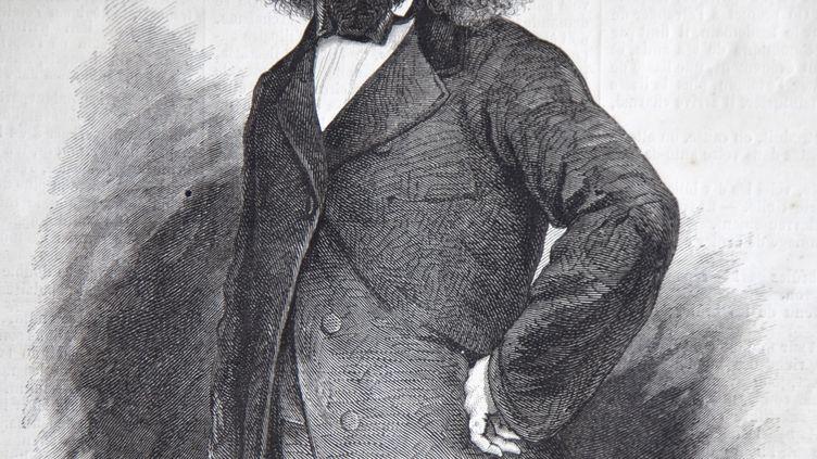 """Un portrait d'Orélie-Antoine Ier de Tounens, le 10 mai 1862 en couverture du journal """"Le Monde illustré"""". (PHILIPPE ROY / HEMIS.FR / AFP)"""