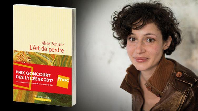 """Alice Zeniter, lauréate du Prix Goncourt des lycéens 2017 pour """"L'art de perdre"""" (Flammarion)  (France Télévisions)"""