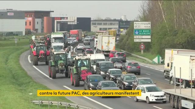 Des agriculteurs manifestent dans toute la France contre la future PAC