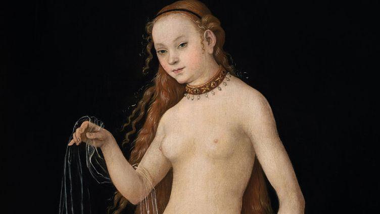 "Lucas Cranach, ""Vénus"", 1531 (détail)- Liechtenstein. The Princely Collections - Vaduz - Vienna  (LIECHTENSTEIN. The Princely Collections, Vaduz –Vienna)"