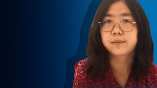 Zhang Zhan, lanceuse d'alerte chinoise, condamnée à quatre ans de prison par Pékin pour avoir couvert Wuhan pendant la quarantaine. (STÉPHANIE BERLU / FRANCE-INFO)