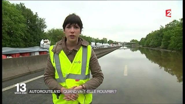 Autoroute A10 inondée : à quand la réouverture ?