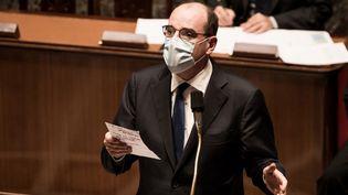 Le Premier ministre, Jean Castex, à l'Assemblée nationale, à Paris, le 15 décembre 2020. (ARTHUR NICHOLAS ORCHARD / HANS LUCAS / AFP)