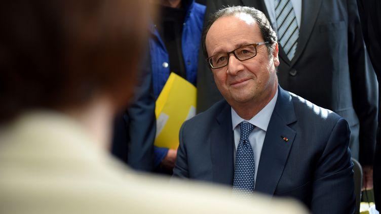 François Hollande, mardi 14 mars 2017 à Montargis (Loiret). (GUILLAUME SOUVANT / AFP)