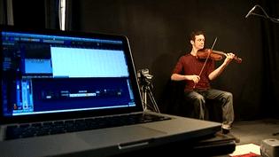 Séance d'enregistrement d'un cours de violon  (Capture d'écran / Culturebox)