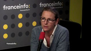 Karine Jacquemart, directrice générale de Foodwatch, était l'invtée de franceinfo le 28 novembre 2017. (FRANCEINFO / RADIOFRANCE)