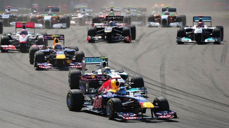 L'Allemand Sebastian Vettel (Red Bull)