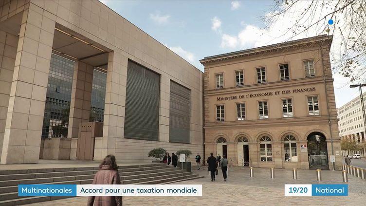 Ce vendredi, 136 pays ont signé un accord pour imposer un taux d'imposition d'au moins15%aux grosses entreprises. (Capture d'écran France 3)