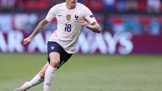 Lucas Digne était titulaire contre la Hongrie à Budapest le 19 juin 2021. (ALEX PANTLING / POOL / GETTY POOL via MaxPPP)