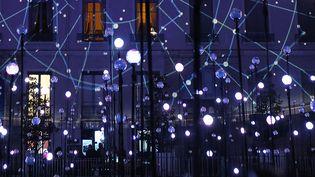 Fete des lumieres a Lyon en 2014. Installation Laniakea,Place Antonin Poncet  (Pascal Fayolle/SIPA)