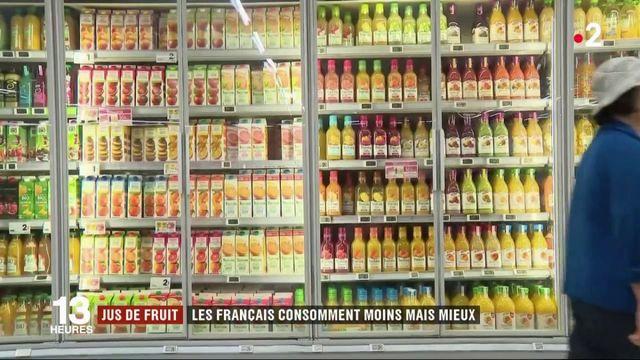 Les Français consomment moins de jus de fruit, mais privilégient la qualité