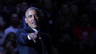 Le président américain, Barack Obama, lors de son discours d'adieu, à Chicago (Etats-Unis), le 10 janvier 2017. (BILGIN SASMAZ / ANADOLU AGENCY / AFP)