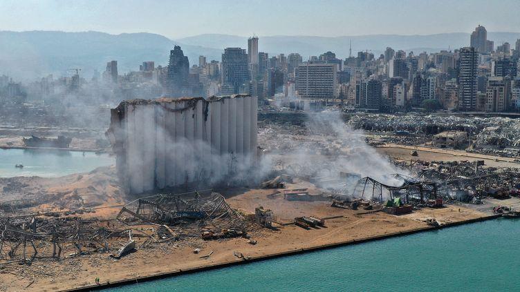 Vue du port de Beyrouth, après l'explosion, le 5 août 2020. (AFP)