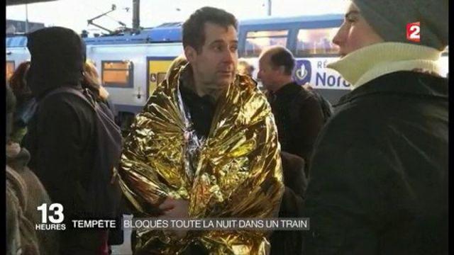 Tempête Egon : des passagers bloqués toute la nuit dans le train