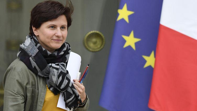 La ministre des Sports,Roxana Maracineanu, quitte l'Elysée, le 24 octobre 2018. (ERIC FEFERBERG / AFP)