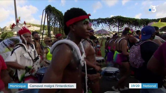 Martinique : malgré l'interdiction, le carnaval célébré