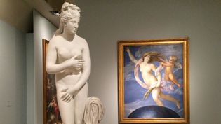"""Plusieurs sculptures antiques sont exposées aux Ecuries du Quirinal dans le cadre de l'exposition """"Musée Universel"""".  (Colomban Jaosidy / Bureau de France Télévisions à Rome)"""