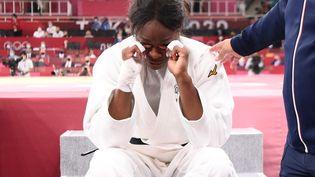 La Française Madeleine Malonga après sa défaite en finale des -78 kg aux JO de Tokyo, le 29 juillet 2021. (FRANCK FIFE / AFP)