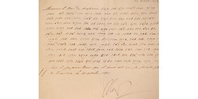 La lettre codée de Napoléon du 20 octobre 1812  (Kenzo Tribouillard / AFP)