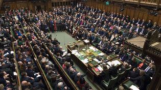 La Chambre des communes au moment du vote sur le Brexit, à Londres, le 15 janvier 2019. (MARK DUFFY / AFP)